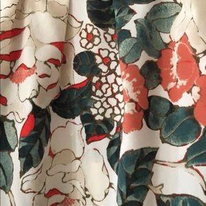 LOFT Tops - Orange and smoky teal halter style Loft blouse